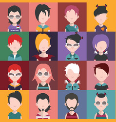 Set of avatars d vector
