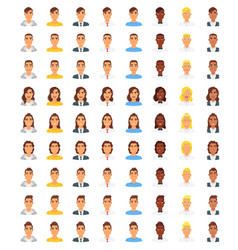 Set of people avatar vector