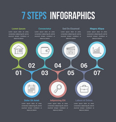 Seven steps infographics vector