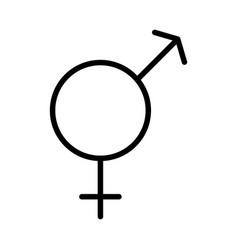Sexual orientation concept hetero symbol icon vector