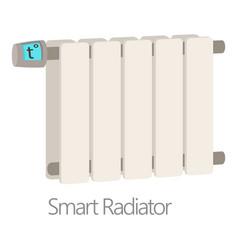 Smart radiator icon cartoon style vector