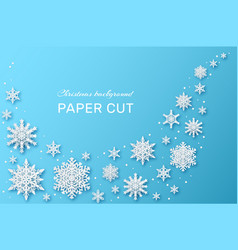 snowflakes design christmas and happy new year vector image