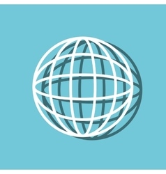 sphere planet web symbol isolated icon vector image