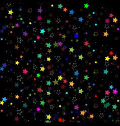stars isolated on background confetti celebration vector image