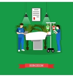 surgeon nurse and patient vector image