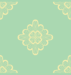 Wallpaper in abstract style green and yellow a vector