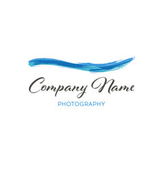 Water wave brush logo template grunge wave logo vector