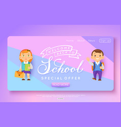 welcome back to school banner template special vector image