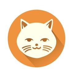 White cat symbol vector image