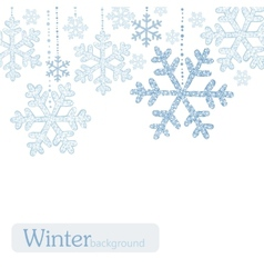 Winter snoflakes background vector