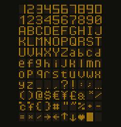 Yellow led font vector