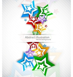 Background with colorful strars vector image vector image