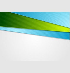 blue and green abstract corporate background vector image