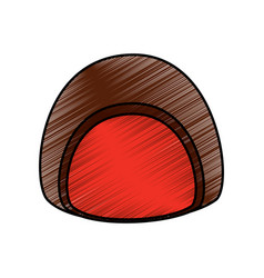 chocolate candy sweet dessert icon vector image