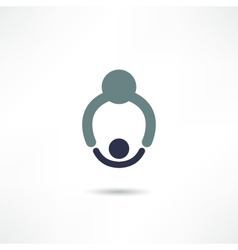 Dad and baby icon vector image