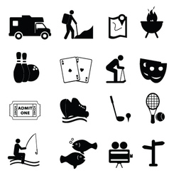 entertainment and leisure icons vector image