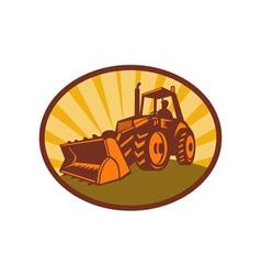 mechanical digger excavator vector image vector image
