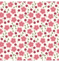 Simple and beauty flower seamless pattern vector image vector image
