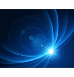 Smooth light lines with lens effect vector image vector image