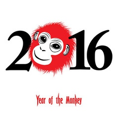 The year of monkey Chinese symbol calendar vector image vector image