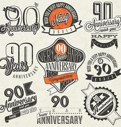 Vintage design elements and emblems vector image