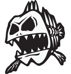 bad bone fish vector image vector image