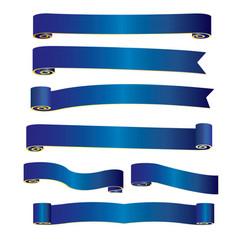 blue ribbon banner image vector image vector image