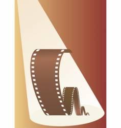 film in beams of projector vector image