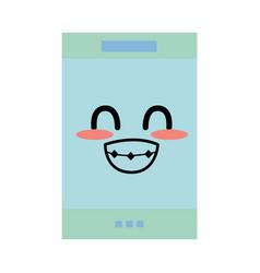 kawaii cute tender smartphone technology vector image