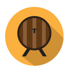 beer barrel icon vector image vector image