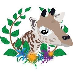 giraffe zoo symbol vector image