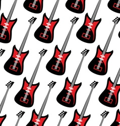 Guitar seamless pattern Electric guitar repeating vector image