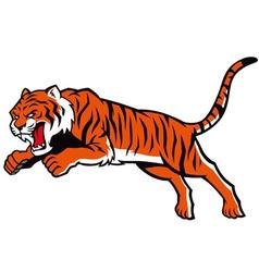 jumping tiger vector image vector image