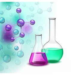 Molecule and vessels colorful composition vector