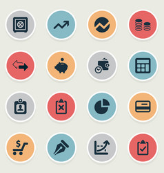 set of simple finance icons vector image vector image