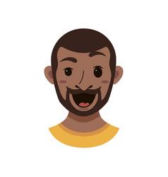 american african men facial expression vector image