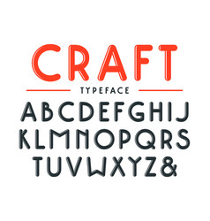 decorative sanserif bulk font with rounded corners vector image vector image