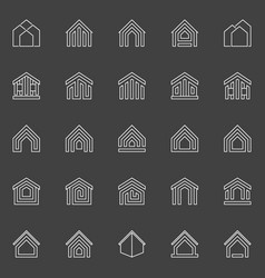 house and property icons vector image