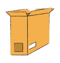 open cardboard box icon image vector image