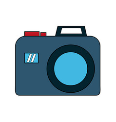 photographic camera isolated vector image