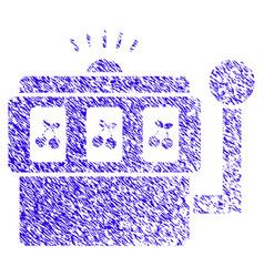 slot machine icon grunge watermark vector image
