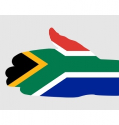 south African handshake vector image vector image