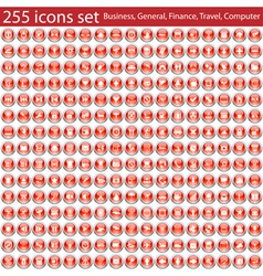 255 icons vector image