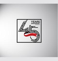 45 years anniversary logotype flat style vector