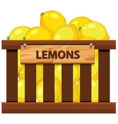a crate of lemon vector image