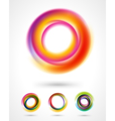 Abstract colorful circles set vector image