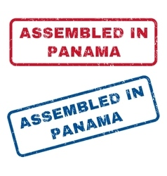 Assembled In Panama Rubber Stamps vector