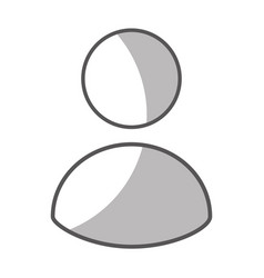Avatar user isolated icon vector