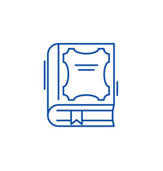 best book line icon concept best book flat vector image