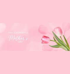 best mothers day template banner floral vector image